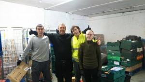 New warehouse operator and volunteers