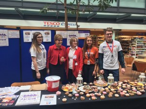 Nicola Sturgeon at RBS Gogarburn stall