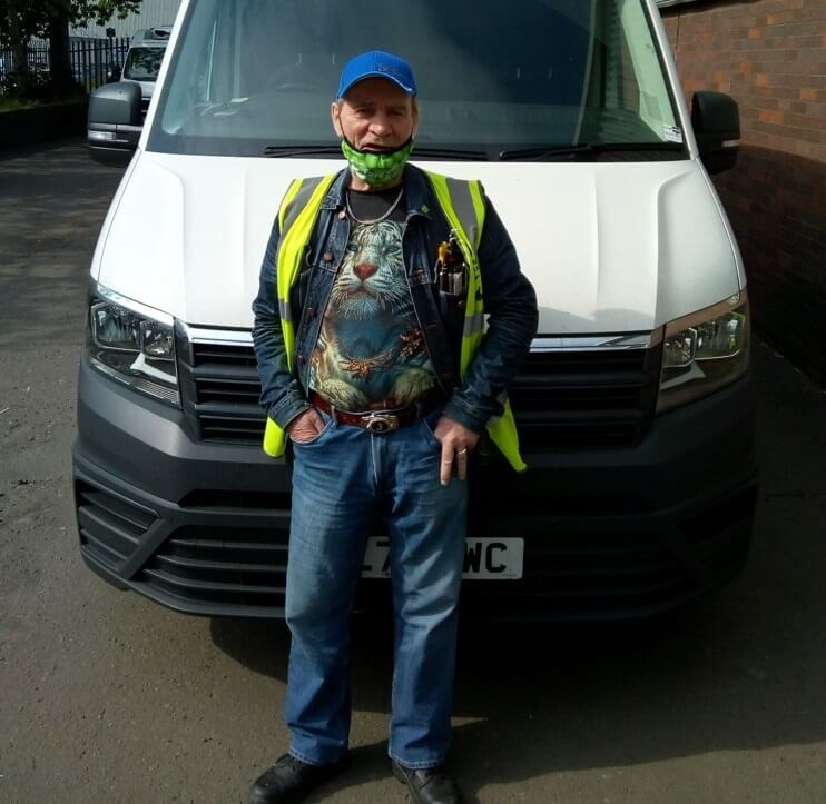 FareShare Glasgow and the West of Scotland volunteer Jimmy