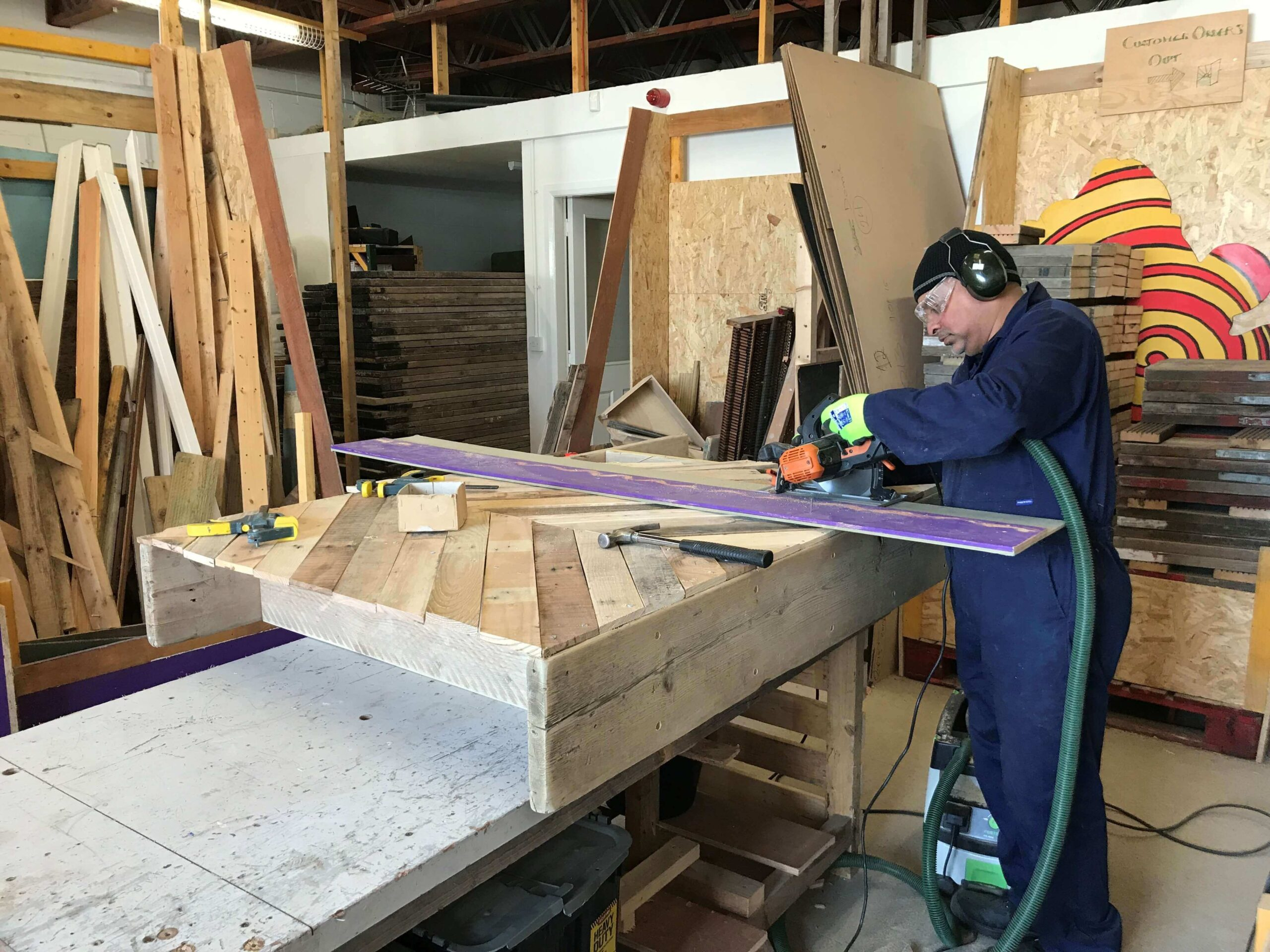 Move On Wood Recycling volunteer Simon
