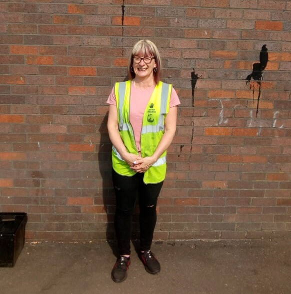 FareShare Glasgow and the West of Scotland volunteer Susan