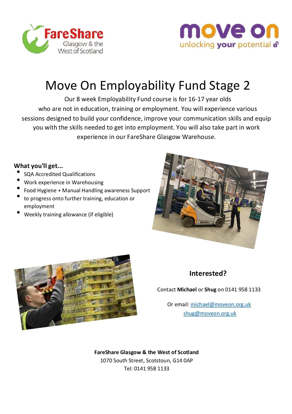 Information about employability training for young people in Glasgow