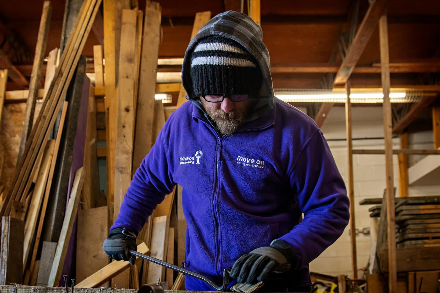Move On Wood Recycling Operational Manager vacancy Edinburgh