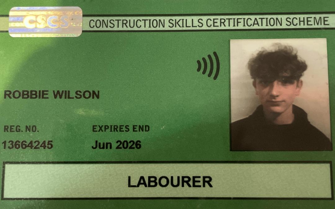Robbie's employability training experience